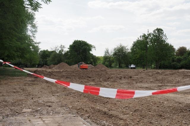 Fliegerbombe im Wuhrlochpark in Neuenburg gefunden