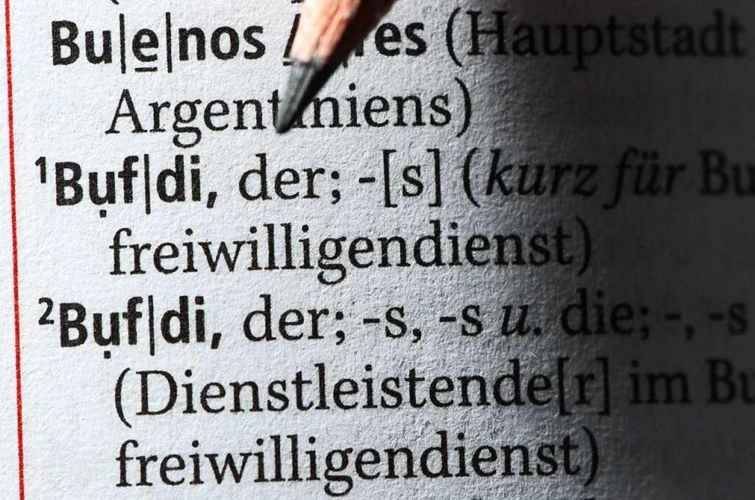 Auch im Duden ist der Bufdi mittlerwei...enheit, eigene Stärken kennenzulernen.  | Foto: Jens Kalaene