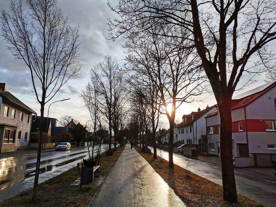 Früher führten hier die Schienen entla...und Radweg zum Josef-Effner-Gymnasium.    Foto: Manuela Müller