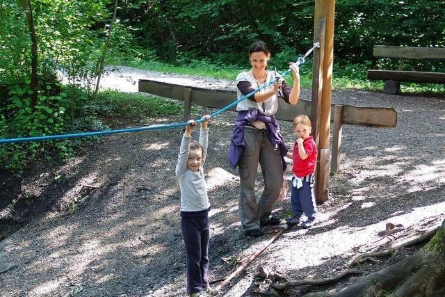 Kinder können den Bötzinger Walderlebnispfad mit den Augen der Ameise Fridolin entdecken