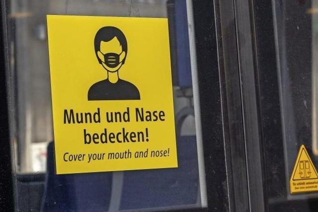 Beim Einkauf und Busfahren: Masken auf!