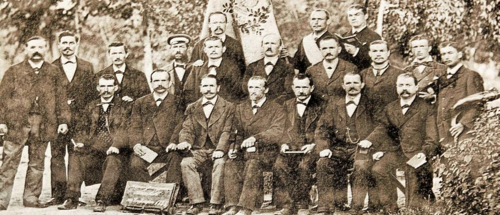 Die Chorvereinigung Amicitia-Kaiserstu...esangverein Kaiserstuhl im Jahr 1883.   | Foto: Christiane Franz