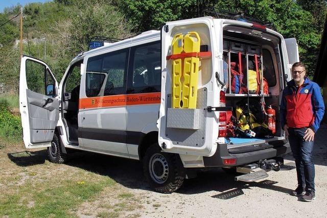 Die Bergwacht Istein freut sich über ihr neues Fahrzeug – kann aber nicht feiern