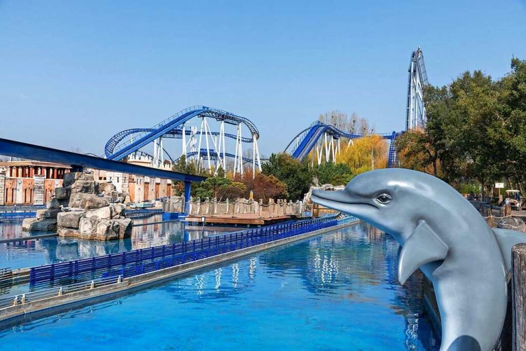 Gähnende Leere: Blick auf die derzeit ...serattraktion Poseidon im Europa-Park   | Foto: Bernhard Rein