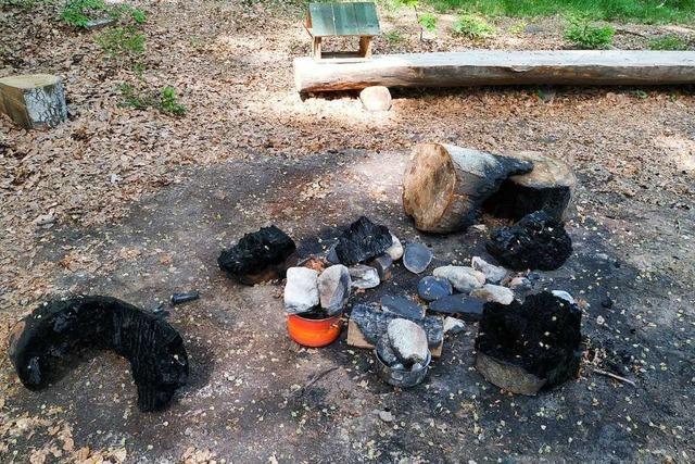 Unbekannte randalieren am Schopfheimer Waldkindergarten