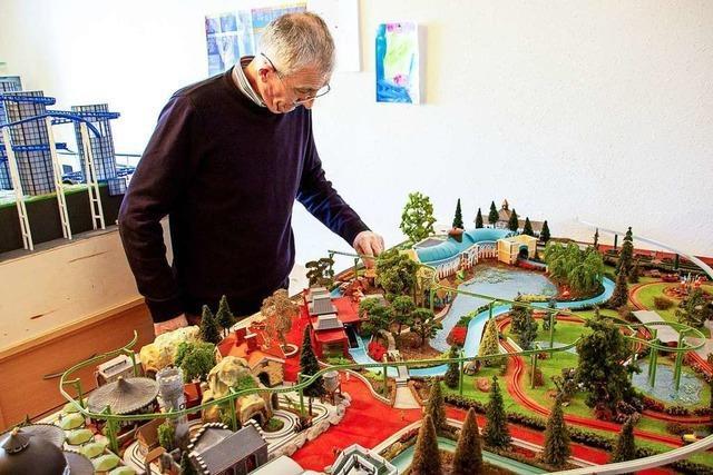 Ein Modellbauer aus Frankreich baut Teile des Europa-Parks nach