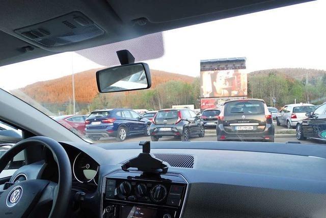 Romantische Autokino-Atmosphäre in Neustadt