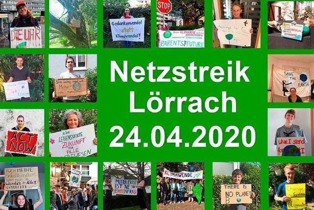 Die Lörracher Klimabewegung streikt im Netz