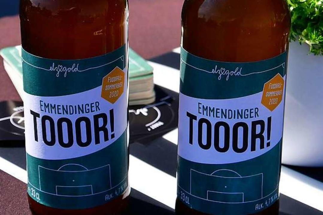 """Tooor!"" – wenn scho... Bier der Hobbybrauer aus Emmendingen.  | Foto: Dieter Erggelet"