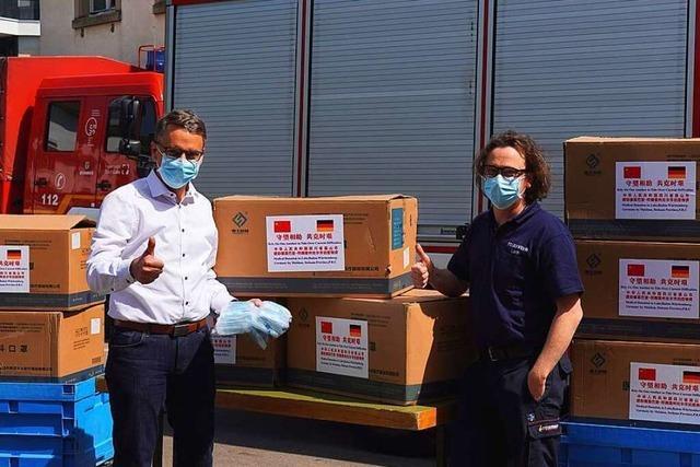 Stadt in China spendet Lahr 25 000 Schutzmasken