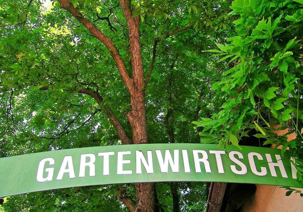 Am besten gut eingewachsen: die Gartenwirtschaft.  | Foto: Wolfgang Abel