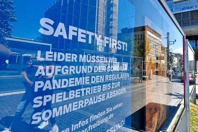 Außenwerbeflächen in Freiburg werden in der Corona-Krise zu Ladenhütern