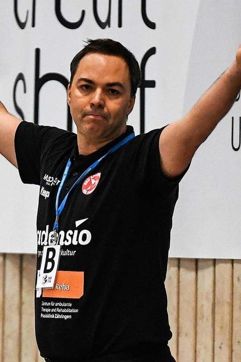 Für HSG-Trainer Ralf Wiggenhauser gehö...rste sein Aufstiegsrecht diesmal wahr?  | Foto: Patrick Seeger