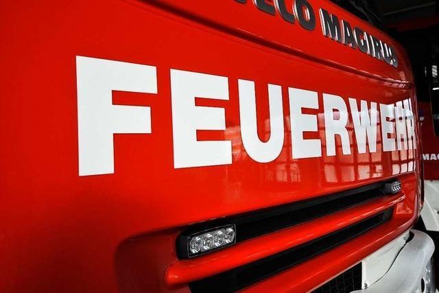 Gartenhütte in Freiburg-Lehen brennt vollständig ab