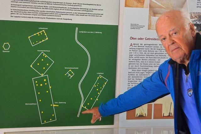 Durch die alamannische Siedlung in Vörstetten verlief im Krieg ein Schützengraben