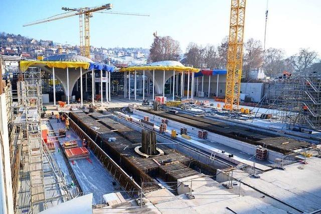 Stuttgart 21: Drohne zeigt 900 Meter lange Baustelle von oben