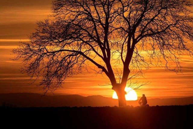 Malerischer Sonnenuntergang bei Riegel