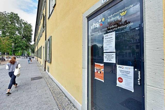 Bei der Freiburger Volkshochschule geht's erstmal online weiter
