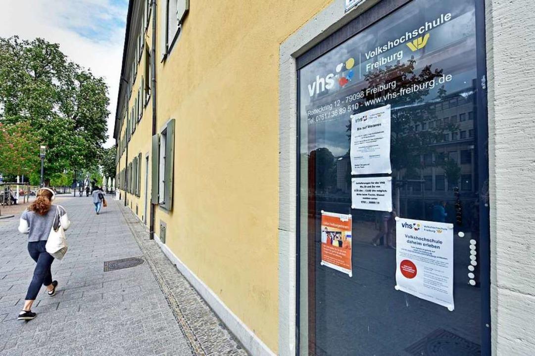 Weder in der Volkshochschule  im Schwa...se, Vorträge oder Ausstellungen statt.  | Foto: Michael