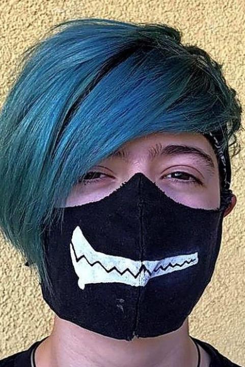 Der Kreativität bei Masken ist keine Grenze gesetzt.    Foto: Privat