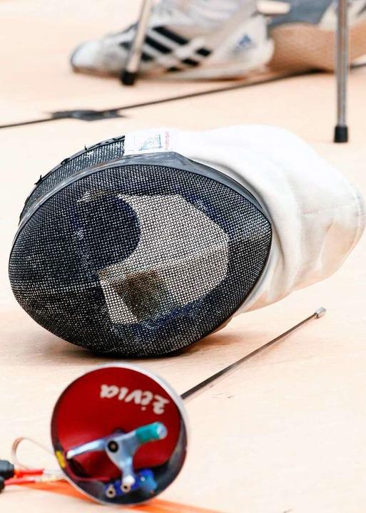 Maskenpflicht herrscht im Fechtsport bei jedem Training.  | Foto: Soeren Stache