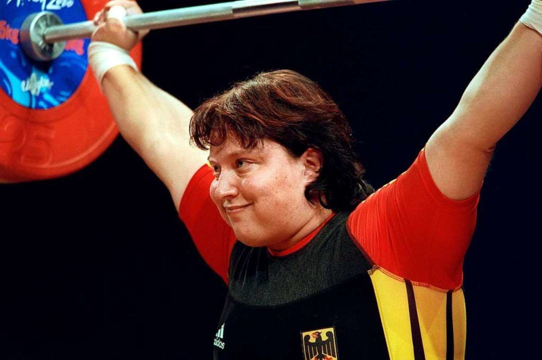 Monique Ludwigs bei den Olympischen Sp...eißen sind bis heute deutscher Rekord.    Foto: Oliver_Multhaup