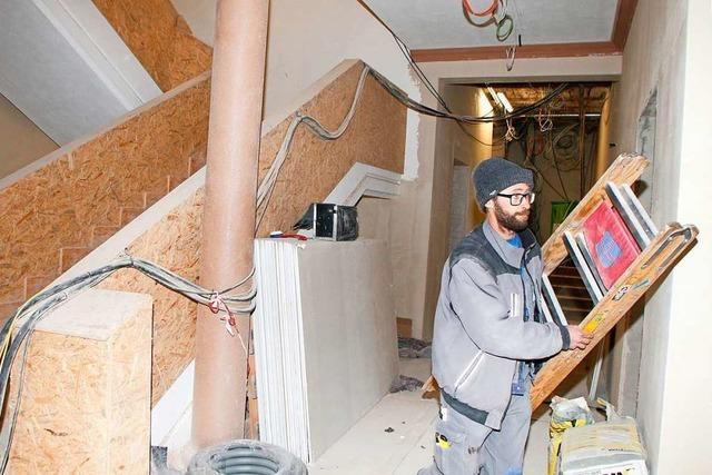 Die Sanierungsarbeiten liegen trotz Pandemie im Zeitplan