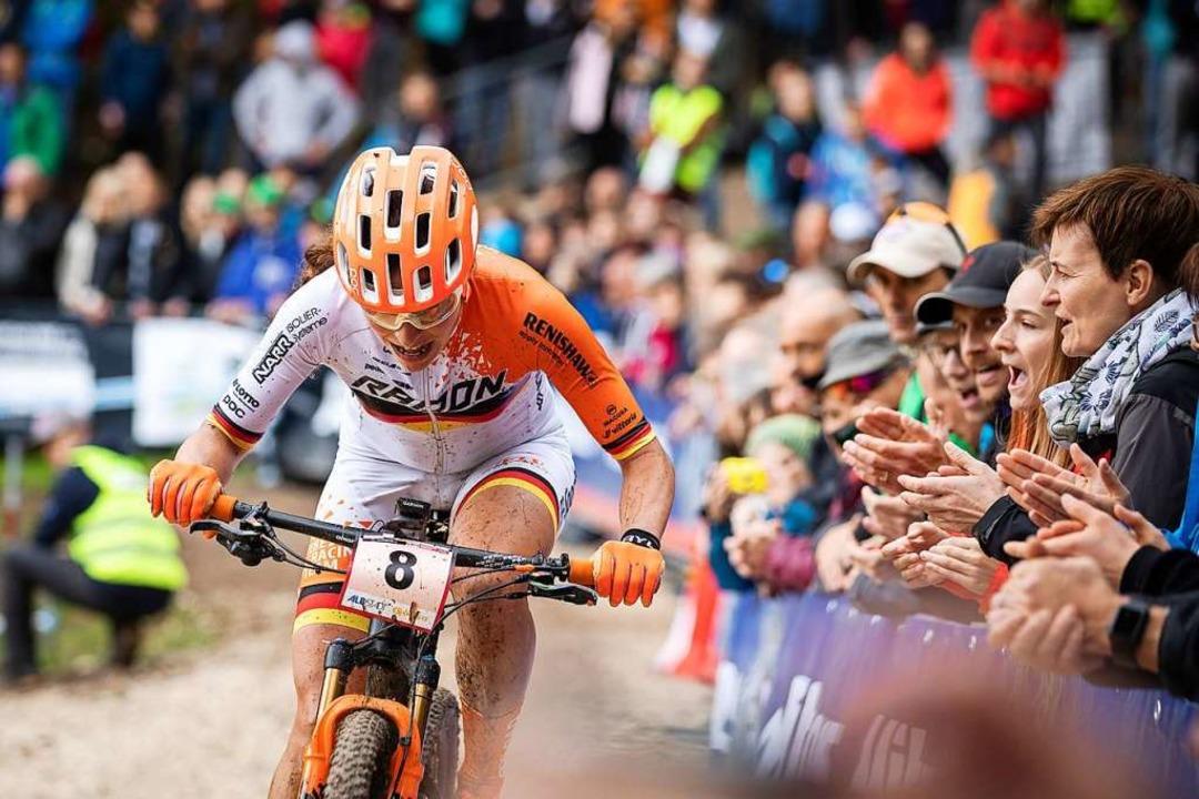 Der Mountainbike-Weltcup in Albstadt w...rteste  Strecke, die besten Zuschauer.  | Foto: Max Fuchs