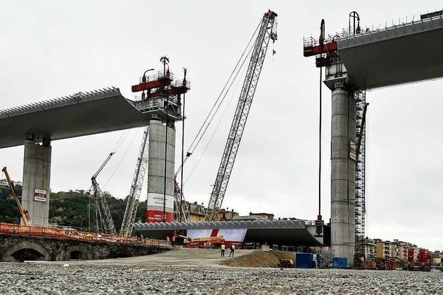 Rohbau der neuen Brücke von Genua ist fertig