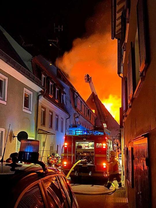 Großbrand in der Kenzinger Innenstadt  | Foto: Feuerwehr Kenzingen