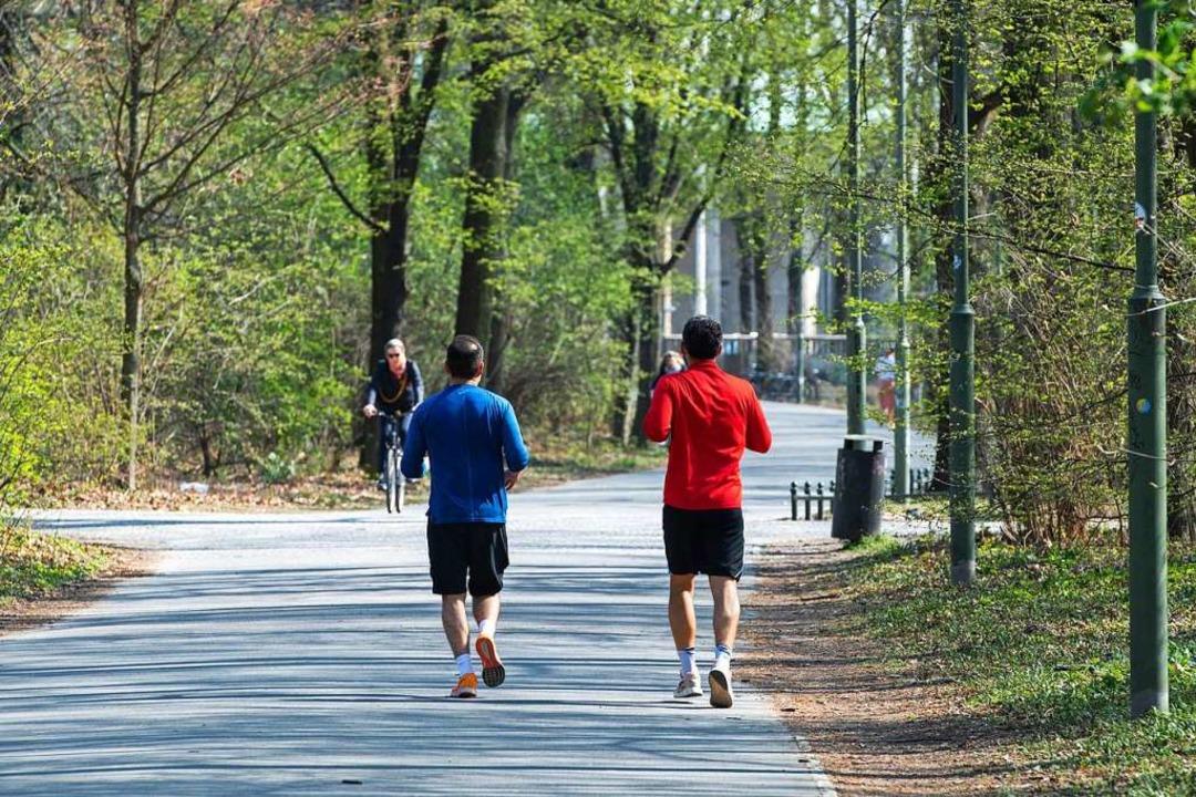 Ob joggend, spazierend oder walkend &#...l, wie die Strecke zurück gelegt wird.    Foto: Christophe Gateau (dpa)