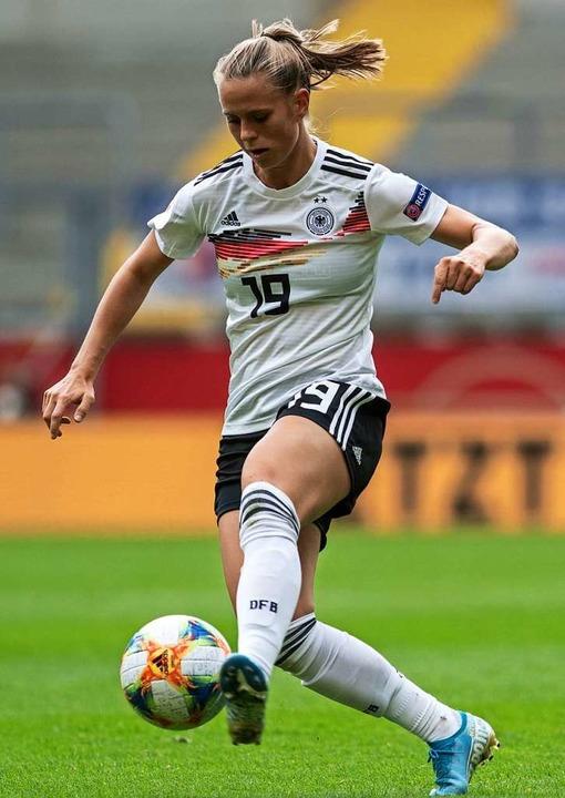 Klara Bühl reifte beim SC Freiburg zur Nationalspielerin.  | Foto: Bernd Thissen (dpa)