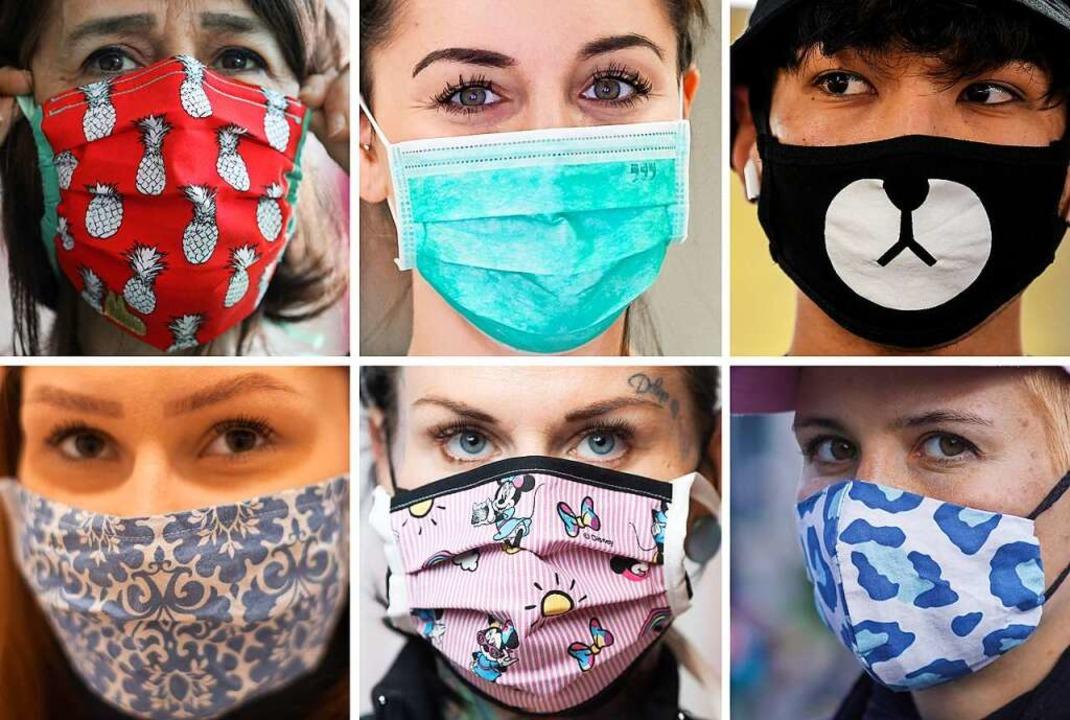 Masken waren  auf den Lörracher Wochenmärkten Pflicht (Symbolfoto).  | Foto: - (dpa)
