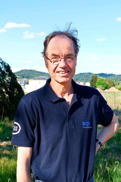 Andreas Berger vom DGB-Ortsverband Wal...r ist auch Betriebsrat bei der Sick AG  | Foto: Sylvia Sredniawa