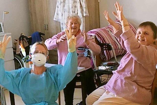 Eine Pflegegruppe in Eichstetten kämpft gegen das Coronavirus