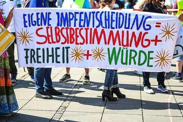 Sind das Freunde des Grundgesetzes? Drei Demos in Offenburg gegen die Einschränkungen von Grundrechten