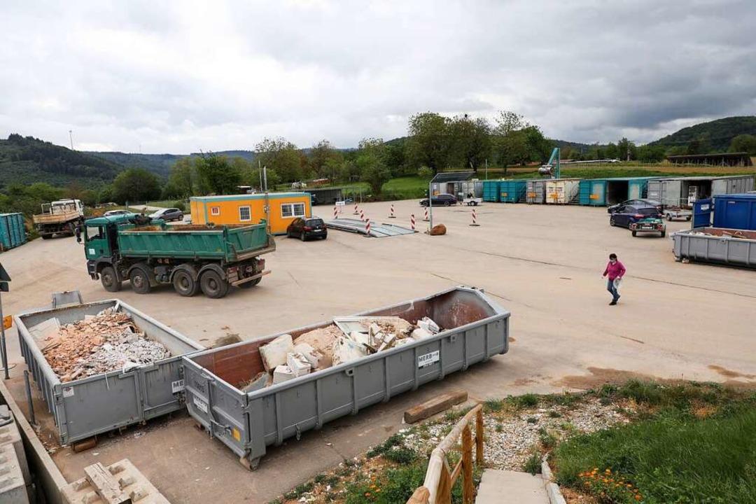 Recht wenig Betrieb auf der Deponie Sulz am Mittwoch  | Foto: Christoph Breithaupt