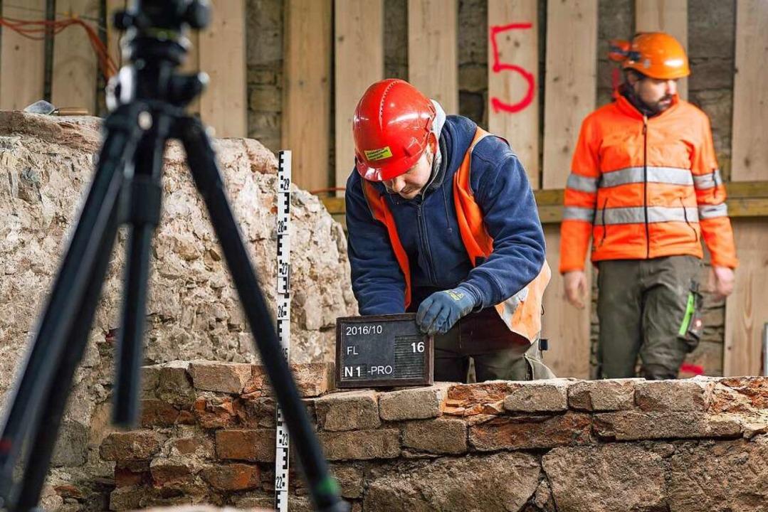 Die Befunde der archäologischen Grabung  wurden sorgfältig dokumentiert.  | Foto: Philippe Saurbeck