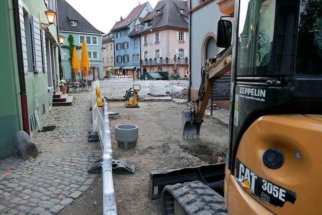 Baustellen in Staufens Altstadt vor dem Ziel