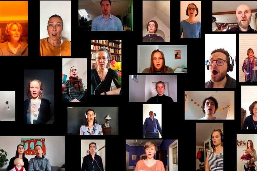Der Freiburger Bachchor probt inzwischen virtuell.  | Foto: privat