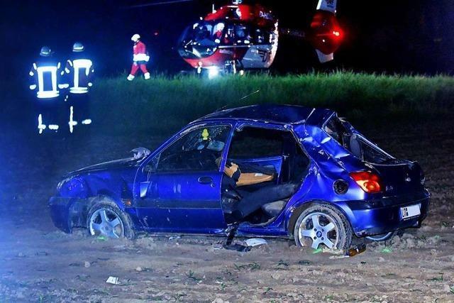 Drei Verletzte nach schwerem Unfall auf der B3