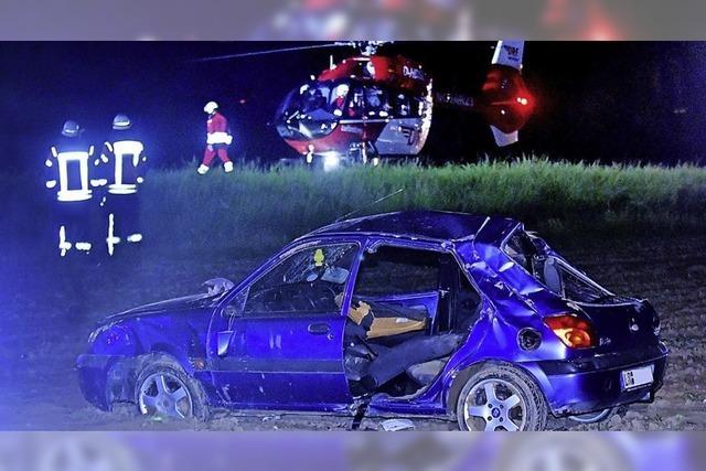Drei Verletzte nach Unfall auf der B 3