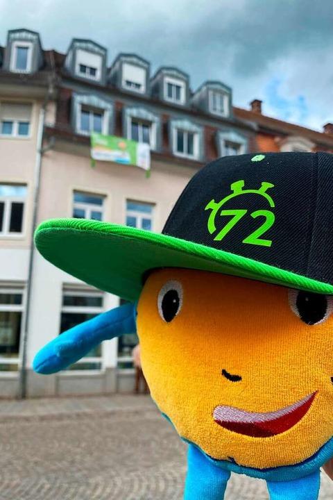 Stoppi, das Maskottchen der 72-Stunden...endbüros am Marktplatz in Emmendingen.  | Foto: Dekanatsjugendbüro
