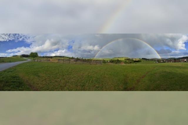 Regenbogen als Zeichen der Hoffnung