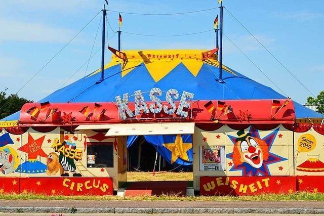 Der Circus Weisheit hält in Herrischried Coronaschlaf