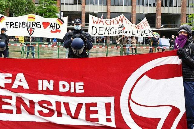 Ein Demonstrationstag in der Freiburger City
