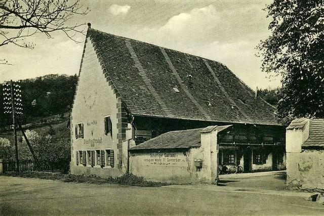 Das Gasthaus zum Stahl in der Freiburger Oberau bietet Gastlichkeit seit mehr als drei Jahrhunderten