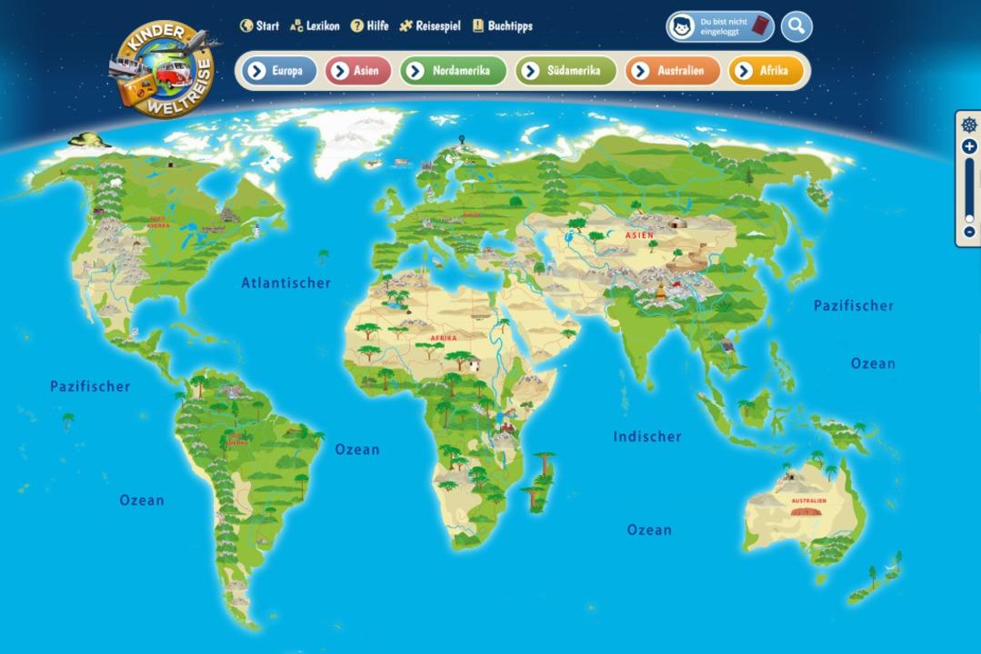 Die Welt ist bunt – in echt und auch im Netz bei www.kinderweltreise.de  | Foto: bz