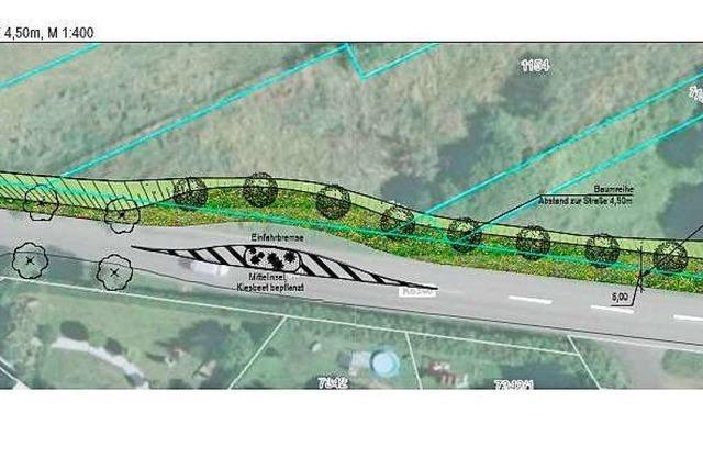 Verkehrsinsel soll Autofahrer am Ortseingang Binzen bremsen