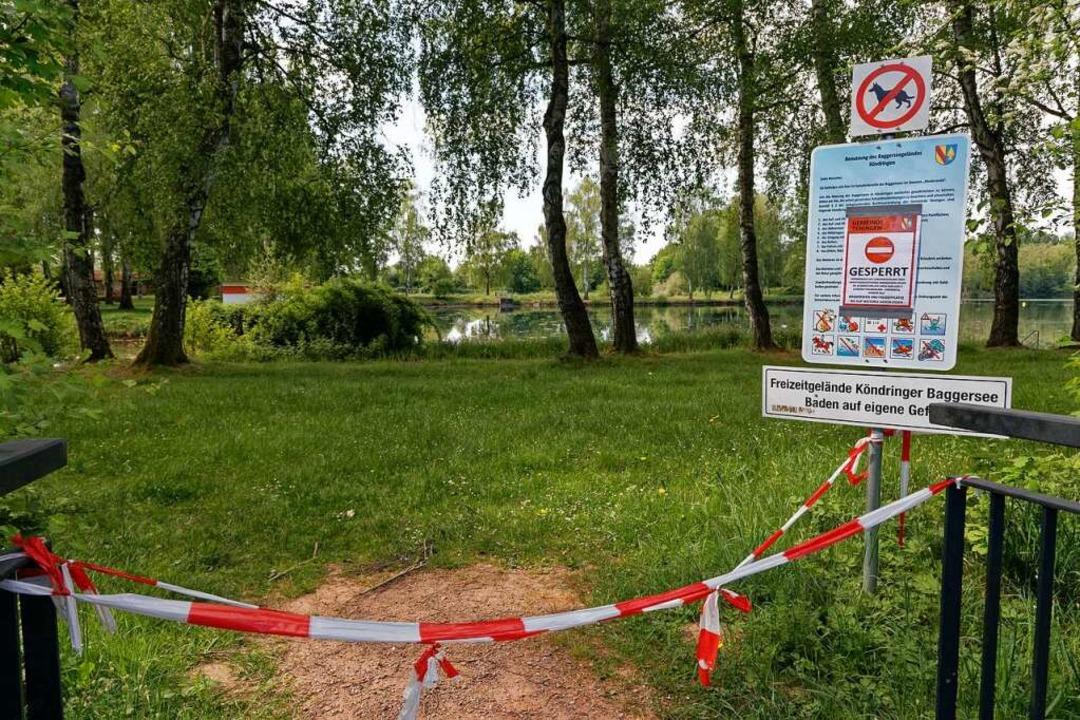 Die Sperre der Baggerseen gilt auch für Angler.  | Foto: Martin Wendel
